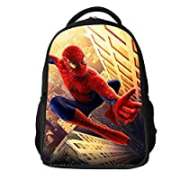 SMLSMGS Backpack Kids Spiderman 3D Backpack Lightweight Waterproof Wear Resistant Large Capacity School Backpack for Boys Children Backpack L (Color : A)