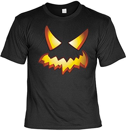 T-Shirt zum Fürchten Halloween Blazing Pumpkin Farbe: schwarz Schwarz