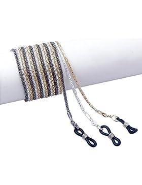 Hugestore 3pezzi di metallo forma catena corda Eyewear Retainer Sunglass Holder strap