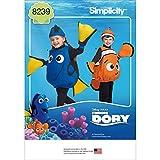 Simplicity Pattern 8239- Disfraz para niños pequeños de Buscando a Dory