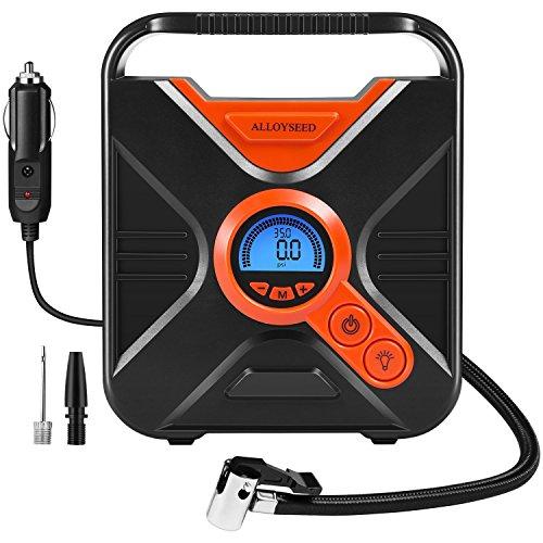 Elektrischer Kompressor, Digital Portable Auto Luftpumpe Reifenfüller 12 Volt 150 PSI-Reifen-Pumpe für mit 7 Große LED Licht LCD Bildschirm und Auto-Adapter