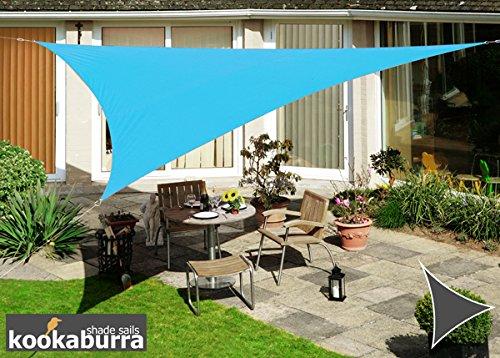 Kookaburra Wasserfest Sonnensegel 5,0m Dreieck Azurblau