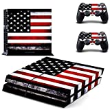 skinown PS4Skins USA Flagge American Flagge Aufkleber Vinyls Aufkleber Cover für Sony PS4Playstation 4Konsole und Controller