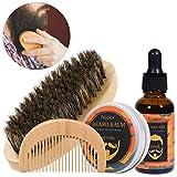 Barba pettine per barba Barba olio per pettine per barba Cura quotidiana per barba