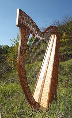 Irisch keltische Harfe 27 Saiten NEU Harp incl Tasche