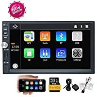 EinCar 7'Car Stereo Radio MP5 Player GPS Navigation Bluetooth/Audio/MP5/USB/SD/AM In-Dash FM Aux Input Receiver USB Charger with Wince Steering Wheel Control Rear Camera Input + Free Map Card