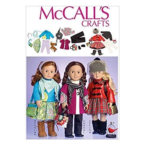Mccall's Patterns Mccall's Pattern MC7006 OSZ Clothes for 18 ft Doll