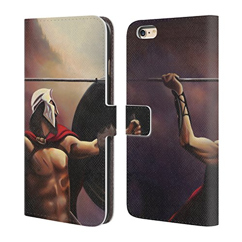 Ufficiale Geno Peoples Art In Alto Vita Cover a portafoglio in pelle per Apple iPhone 6 Plus / 6s Plus Guerrieri Veterano
