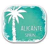 2 x 25cm/250mm Alicante Spanien Vinyl SELBSTKLEBENDE STICKER Aufkleber Laptop reisen Gepäckwagen iPad Zeichen Spaß #6352