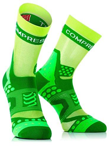 Compressport Run Ultralight - Calcetín de running unisex, color verde