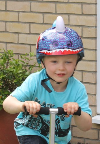Image of Dinosaur Childrens Safety Helmet Cycling Skating Scooter Bike (Suitable Kids aged 3 - 10)
