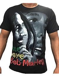 Black Sanoor Bob Marley T-Shirt Pour Hommes, Urbain Hip Hop Rap Unique Amour Bling t-Shirts