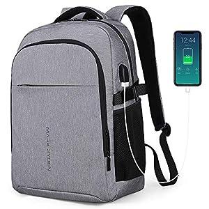 MARK RYDEN Mochila para portátil Mochila de Negocios Impermeable para Hombre Mochila Escolares con Puerto de USB para Ordenador 17,3/15.6 Pulgadas Viajes Trabajo