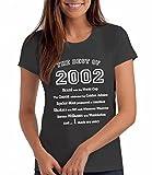 The Best of 2002 - Damen T-Shirt als Geschenk zum 16. Geburtstag: Cg, L