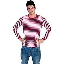 Camiseta a rayas rojas Gondoliere, XXL
