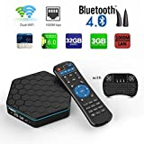Aoxun TV Box Android 6.0 Caja inteligente T95Z más CPU Amlogic S912 Octa-core 64 Bits 3GB RAM 32GB ROM con un teclado inalámbrico Wifi dual inteligente set-top boxes Bluetooth 4.1 y True 4K Jugando(3 + 36G + FS)