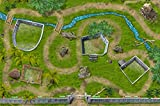 Stikkipix Dinosaurier Park Spielteppich | SM07 | Hochwertige Dino Spiel-Matte für das Kinder-Zimmer | ideales Zubehör zu Spiel-Figuren von Schleich, Playmobil, Papo, Bullyland & Co | 150 x 100 cm