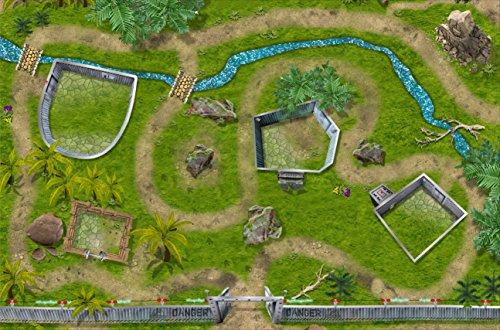 Stikkipix Dinosaurier Park Spielteppich | SM07 | Hochwertige Dino Spiel-Matte für das Kinder-Zimmer | ideales Zubehör zu Spiel-Figuren von Schleich, Playmobil, Papo, Bullyland & Co | 150 x 100 cm (Dinosaurier Spiele Dinosaurier)