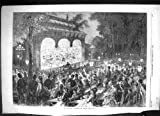 Copie 1869 d'Antiquité de Spectateurs de Divertissement de Paris France de Théâtre En Plein Air