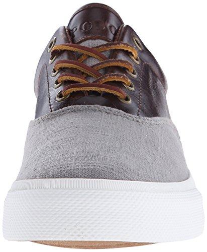 Polo Ralph Lauren Vaughn Saddle Fashion Sneaker Grey/Tan
