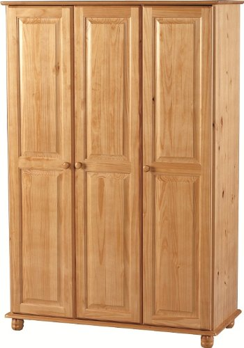 sol-solid-antique-pine-3-door-wardrobe-delivery-to-uk-mainland-and-ireland