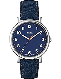 Timex T2N955D7 - Reloj de cuarzo unisex, correa de tela, color azul