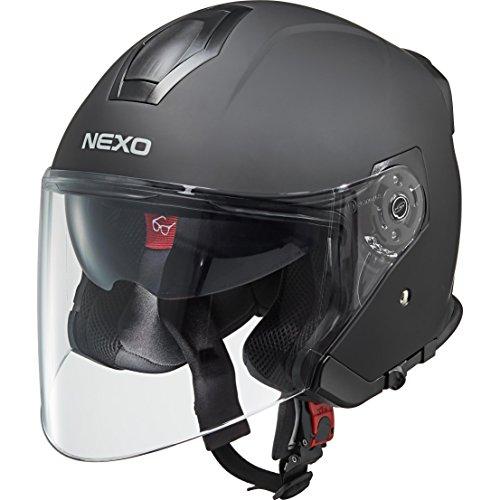 Nexo Motorradhelm Jethelm Travel 2.0 mattschwarz L