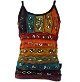Guru-Shop Stonewash Goa Top, Damen, Regenbogen 14, Baumwolle, Size:S/M (36), Tops, T-Shirts, Shirts Alternative Bekleidung