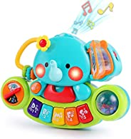 iPlay, iLearn Baby Musical Elephant Toys, Kids Electronic Piano Keyboard W/ Lights & Sound, Music Activity