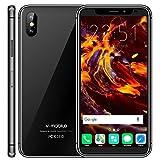 V·Mobile X8 Pro Telephone Portable debloqué Pas Cher 5.5 Pouces Quad Core 16GB ROM 5MP Caméra 18:9 Android 7.0 Smartphone 4G Double Carte WiFi GPS 2800 mAh (Noir)
