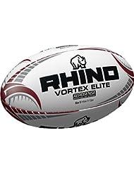 664010536b0f5 Sports rouage Rhino Vortex ELITE BALLON DE Rugby Blanc Taille 5