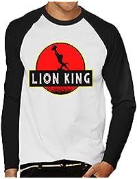 Lion King Jurassic Park Circle Of Life Men's Baseball Long Sleeved T-Shirt