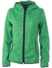 James & Nicholson Damen Sweatshirt Fleece Ladies'Knitted Fleece Hoody