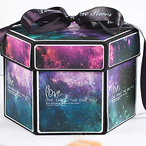 fang FANS Kreative Überraschung Box Explosions-Box DIY Faltendes Fotoalbum,Geburtstag Jahrestag Valentine Hochzeit Geschenk, für Hochzeit, Muttertag, DIY Geschenk (I) -
