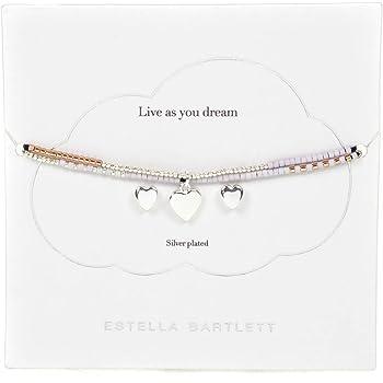 6813f237ad Estella Bartlett Phoebe Rose Gold Silver Plated Bracelet & Heart Stud  Earrings Gift
