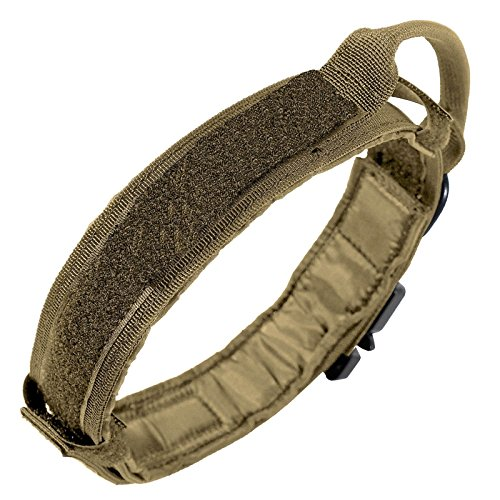 LIVABIT Heavy Duty 600D Nylon Tactical Dog Training Halsband Griff, Medium, Schwarz, Large, Large Tan Tan Griff