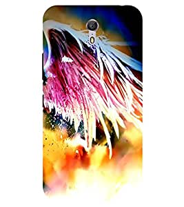 Chiraiyaa Designer Printed Premium Back Cover Case for Lenovo Zuk Z1 (feather colorful) (Multicolor)