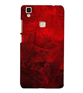 FUSON Red Acrylic Painted Background 3D Hard Polycarbonate Designer Back Case Cover for Vivo V3Max