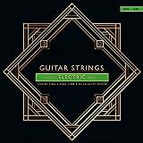 E-Gitarren Saiten .010-.046 / Gitarrensaiten/Top-Qualität/Robuster, rost-geschützter Stahl vernickelt. 6er Set nummerierten Gitarrensaiten. Rock/Heavy Metal