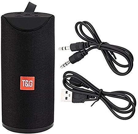 T&G 113 Super Bass Splashproof Wireless Bluetooth Speaker (Black)