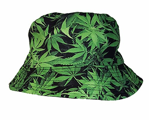 cool-colorful-cannabis-feuille-de-chanvre-seau-chapeau-de-soleil-vert