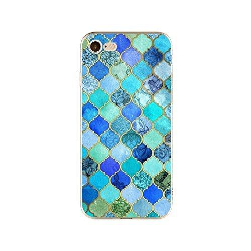 Coque iPhone 7 Plus Housse étui-Case Transparent Liquid Crystal en TPU Silicone Clair,Protection Ultra Mince Premium,Coque Prime pour iPhone 7 Plus-Marbre-style 10 3