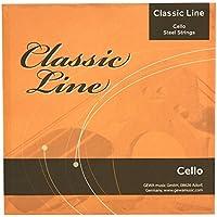 GEWApure F641064 - Cuerdas para violonchelo juego 1/2 tensión media