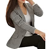 Femmes Slim Fit Blazer Manches Longues Slim Turn Down Col Costume Manteau...