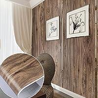 2 Stk Auralum Dunkelbraun Holzmuster Küchenfolie PVC Klebefolie Dekofolie 0.61*5M Schränke Tapeten Möbelfolie Selbstklebend für Küchenschränke Möbel Türen