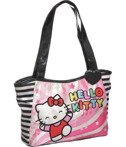 Sac à main – Hello Kitty – Notes de musique rose/noir