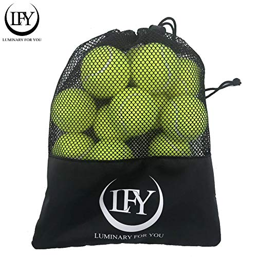 LUMINARY FOR YOU Tennisbälle 15 Stück inklusive Mesh-Tragetasche Tennisbälle perfekt für das Training, Tennisunterricht, Freizeitspiele oder als Hundespielzeug