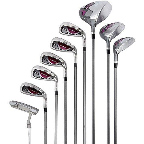 Wilson-Beginner-Complete-Set-9-golf-clubs-with-cart-bag-Womens-Stretch-XL-WhiteGreyPurple