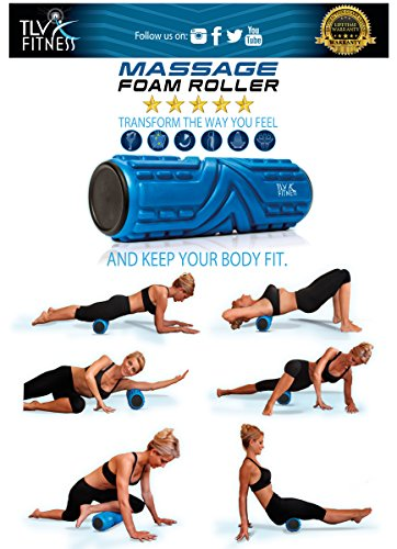 Foam-Roller-Firm-For-Deep-Tissue-Muscle-Massage-Free-Ultimate-Guide-Physical-Therapy-Exercise--Best-for-Yoga-PilatesRecovery-CrossfitCore-Workout-High-Density-33cmx14cmLifetime-Guarantee