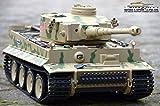 RC Panzer 2.4 GHz Tiger 1 Camouflage Metallgetriebe mit Rauch & Sound Heng Long